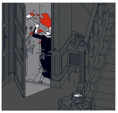 """""""J'ai dit à table !"""", illustration de Ted Benoit."""