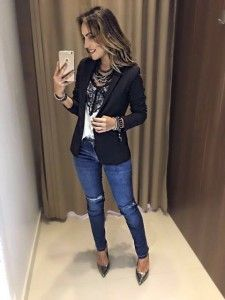 Ideas for moda masculina magro social Casual Work Outfits, Blazer Outfits, Classy Outfits, Cute Outfits, Look Office, Look Blazer, Everyday Outfits, Casual Chic, Feminine Style