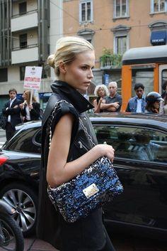 Black + Sequin Bag