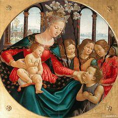 """Domenico Ghirlandaio """"La Vierge et l'Enfant avec le Jeune Saint Jean-Baptiste et Trois Anges"""" 1490   Flickr - Photo Sharing!"""