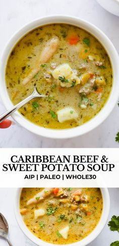 Whole30 Soup Recipes, Beef Soup Recipes, Chicken Recipes, Dinner Recipes, Dinner Ideas, Paleo Ground Beef, Ground Beef Recipes, Ground Beef Soups, Ground Beef And Potatoes