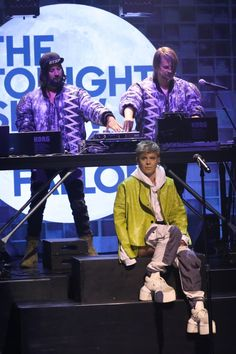 "Those are some big shoes to fill. Röyksopp & Robyn make an impression on ""The Tonight Show Starring Jimmy Fallon"" on Aug. 18 in New York"