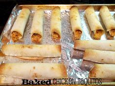 Kid-friendly baked chicken tacquitos!
