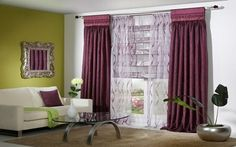 4 Steps and Choosing Curtains Will Be a Cake Walk Cool Curtains, Window Curtains, Curtain Designs, Business Design, Drapery, Living Room Furniture, Blinds, House Design, Windows