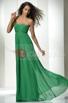 Elegant A-line Sweetheart Empire Waistline Floor-Length Prom Dress : Tidebuy.com
