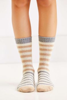 Striped Wooly Boot Sock