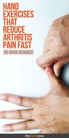 Drugs Required: Hand Exercises That Reduce Arthritis Pain Fast If your joints are stiff and sore, try these natural remedies for arthritis pain relief!If your joints are stiff and sore, try these natural remedies for arthritis pain relief! Arthritis Exercises, Types Of Arthritis, Arthritis Symptoms Hands, Rheumatoid Arthritis Diet, Yoga For Arthritis, Osteoarthritis Hands, Finger Arthritis, Herbs For Arthritis, Health And Fitness