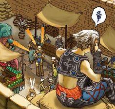 Vaan and Penelo Final Fantasy Xii, Fantasy Art, Cg Artwork, Original Artwork, Medieval, Video Game Art, Finals, Fan Art, Drawings