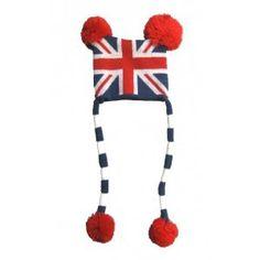 $10   www.mummysmonsters.com   UK Flag Baby Pilot Hat / Beanies