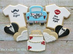 wedding cookies by Cookie Loft Girls