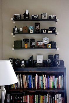 Cameras and books..