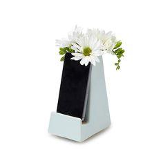 Bedside Smartphone Vase   iphone vase, dock   UncommonGoods so smart!!