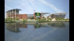 New rendering released of #Baylor Stadium with alumni events center (July 2013) #SicEm (click to see more new renderings)