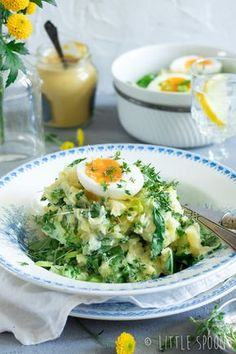 Spring stew with bok choy, crème fraiche and soft-boiled eggs - Little Spoon Good Healthy Recipes, Veggie Recipes, Real Food Recipes, Vegetarian Recipes, Dinner Recipes, Creme Fraiche, Recipes From Heaven, Food For Thought, Food Dishes