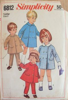 Vintage 1966 Sewing Pattern Simplicity 6812 Coat & by GrooveCloth