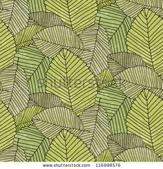 leafs pattern color - stock vector