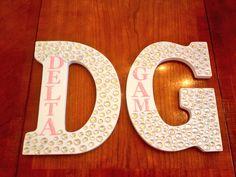 Delta Gamma wood letters