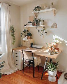 Natural Vibes Aesthetic Desk Setup 🌱🪑