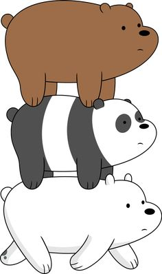 """We Bare Bears - Bear Stack"" Stickers by rustybeef Cute Panda Wallpaper, Cartoon Wallpaper Iphone, Bear Wallpaper, Cute Disney Wallpaper, Cute Wallpaper Backgrounds, Pretty Wallpapers, Aesthetic Iphone Wallpaper, We Bare Bears Wallpapers, Panda Wallpapers"