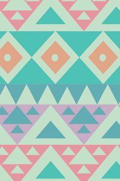 Motifs astèques + couleurs pastels, pour un résultat super contemporain et à la mode