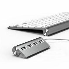 "Satechi Premium 4 Port Aluminum USB Hub (9.5"" cable) for iMac, MacBook Air, MacBook Pro, MacBook, and Mac Mini:Amazon:Computers & Accessories"