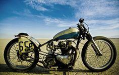 The Salt Ghost, custom Triumph motorcycle.