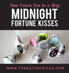 Midnight Kisses for New Years Eve party- CUTE!