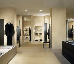 Our honey-coloured porcelain tiles make this retail space feel very warm and inviting.