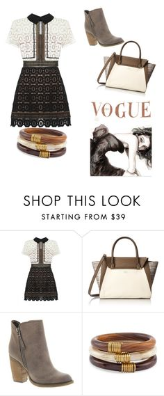"""Untitled #85"" by fashionized-m on Polyvore featuring self-portrait, Vince Camuto, Sbicca, Chico's, women's clothing, women, female, woman, misses and juniors"