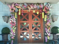 Easter/Spring inspired garland ....by Regina Gust