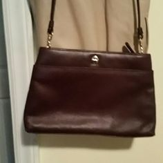 Etienne Aigner Chocolate Brown Shoulder Luxurious Burgundy/ Chocolate Leather. Classic piece.  Has beautiful sheen that pics cannot capture. Wonderful gift. #Aigner find Etienne Aigner Bags Shoulder Bags