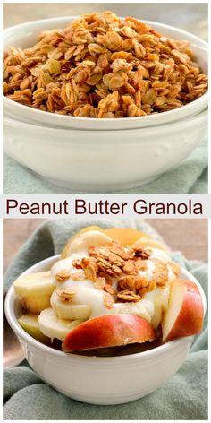 Peanut Butter Granola Muffins | Recipe | Granola, Chocolate Peanut ...