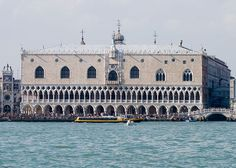 The Doge's Palace (Palazzo Ducale) is a palace built in Venetian Gothic style, and one of the main landmarks of the city of Venice. The palace was the residence of the Doge of Venice, the supreme authority of the Republic of Venice, opening as a museum in 1923.  Photo by Andrew Balet.
