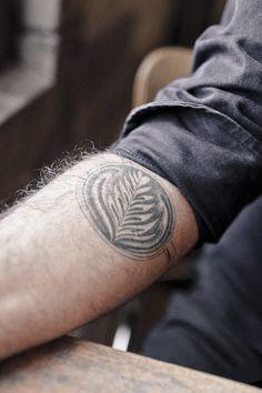 a latte art tattoo