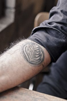 Latte art tattoo - it's exactly what you need if you take your coffee art seriously!