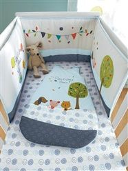 Embroidered Cot Bumper