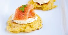 Potato cakes with cream cheese and smoked salmon recipe | Getaway Travel Blog
