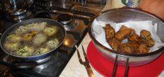 Preparazione dell'Ulundu vadai (cucina dello Sri Lanka), secondo a base di lenticchie.