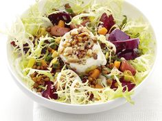 Warm Beet and Lentil Salad with Goat Cheese from Food Network Magazine #Protein #Veggies #MyPlate