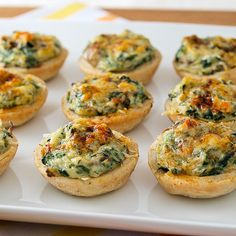 Mini Crab, Spinach, and Mushroom Tarts by EvilShenanigans, via Flickr