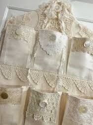Billedresultat for shabby chic lace hanging wall organizer