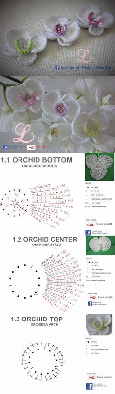 Вязаные орхидеи.. Обсуждение на LiveInternet - Российский Сервис Онлайн-Дневников