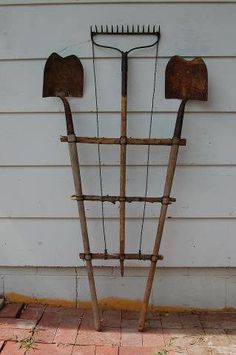 Trellis made from old tools