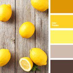 Lemons on a wooden table Color Palette Colour Pallette, Colour Schemes, Color Combinations, Yellow Color Palettes, Color Yellow, Color Balance, Color Harmony, Design Seeds, Deco Design
