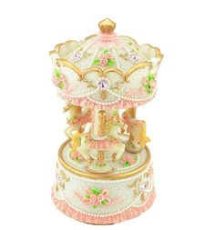 Amazon.com: Yunko 3-horse Carousel Music Box Mp333,tune Is Carrying You From Castle in the Sky: Home & Kitchen
