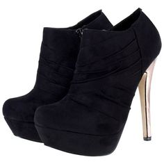 Odeon Ruched Velvet Suede Platform Stiletto Heel Ankle Boots Black and other apparel, accessories and trends. Browse and shop related looks.