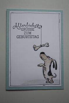 Grußkarte mit Hund von Katzelkraft - Les chiens card with cute dog