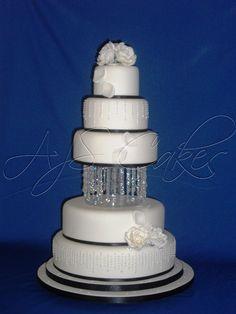 Sparkle wedding cake with Swarovski crystal decoration