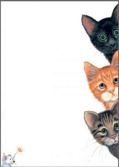 Peek a boo cats - Cool Cats, I Love Cats, Graffiti Kunst, Animals And Pets, Cute Animals, Image Chat, Illustration Art, Illustrations, Photo Chat