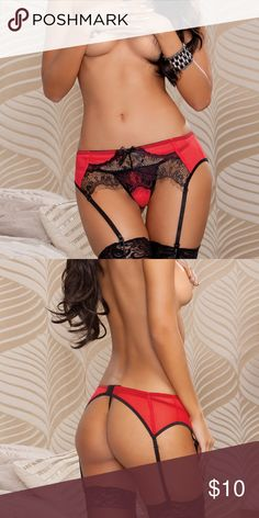 Very SEDUCTIVE red and black lace Garter Belt. This item can easily be worn at the office and be your little secret so you can feel confident and sexy all day. Garter Belts, Lace Garter, Fashion Design, Fashion Tips, Fashion Trends, Affiliate Marketing, Red Black, Confident, Women Wear